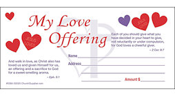 Church Love Offering Envelopes Pkg