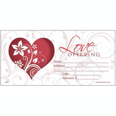 Church Love Offering Envelopes (Pkg of 100)