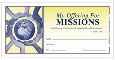 Missions Offering Church Envelopes Pack of 100