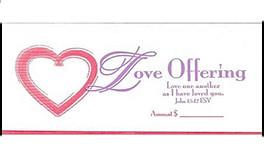 Love Offering Envelopes (Pkg of 100)