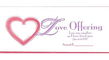 Love Offering Envelopes (Pkg of 100)