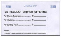 Three-Fund Weekly Boxed Offering Envelope Sets (Pkg of 8)
