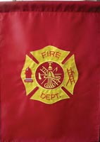 Firefighter Garden Flag Embroidered 12 x 18