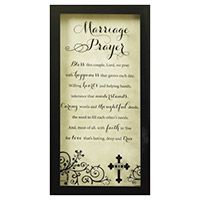 Marriage Prayer Glass Print