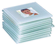 Glass Photo Coasters (Set of 12)