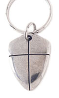 Shield of Faith Keychain - Be Strong