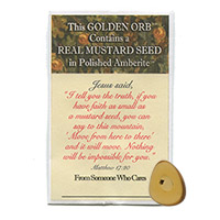 Mustard Seed in Polished Amberite