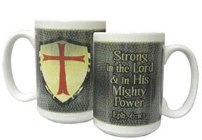 Armor of God Ceramic Large Coffee Cup