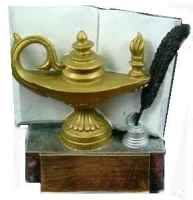High quality Educational trophy is made out of a heavy duty polyresin. Measures 4 1/2 tall x5 wide