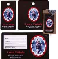 St Christopher Prayer Devotional Key & Pocket Holy Cards Set