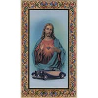 St Christopher Driver's Prayer Holy Card Laminated