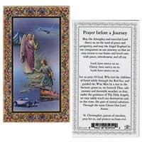 Archangel Raphael & Angel  Before Journey  Holy Card Laminated