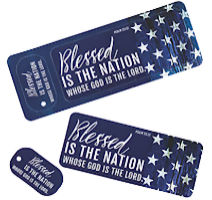 Patriotic Bookmarks & Keychain Tags (Pack of 6)