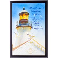 Framed Lighthouse Print Thank You Father