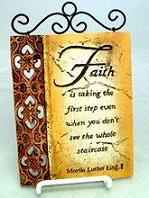 Faith Inspirational Wall Plaque