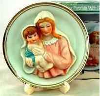 Madonna & Child Plate with Stand