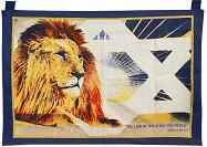Lion of Judah Blue Cloth Tapestry