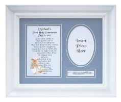 Personalized Communion Boy Plaque & Frame