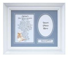Personalized Communion Boy Plaque & Frame