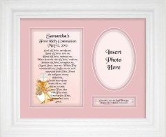 Personalized Communion Girl Plaque & Frame