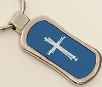 Stainless Steel Cross Keychain