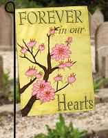 Embroidered Forever In Our Hearts Cemetery Flag