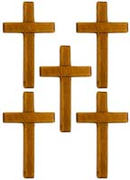 Wood Cross - 3.25 Inch Tall  Pack of 25 Light Finish