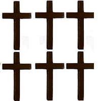 Wood Cross - 3.25 Inch Tall Pack of 25  Dark Finish
