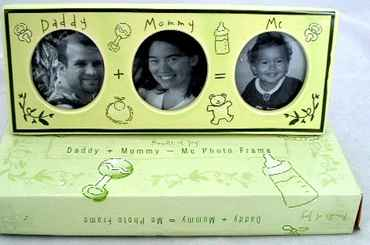 Daddy And Mommy Equal Me Photo Frame