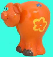 Flower Power Piggy Bank