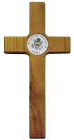 Wood Army Wall Cross 8 Inch