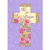 He Is Risen Easter Flag Large 40 Inches