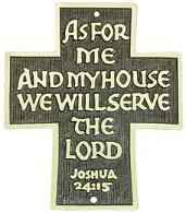 We Will Serve the Lord Door Blessing Plaque