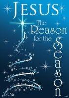 Jesus is the Reason for the Season Star & Snowflakes Flag