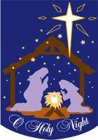 O Holy Night Nativity Home Flag