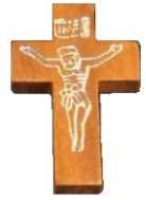 Crucifix Pocket Cross Light Wood Silver