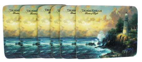 Thomas Kinkade Light of Peace Coaster Set