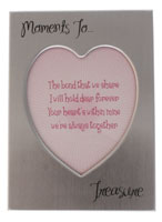 'Moments to Treasure' Heart Shaped Picture Frame