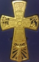 Gold John 3 16 Wall Cross