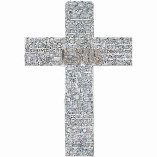 Names of Jesus Wall Cross 9 Inch