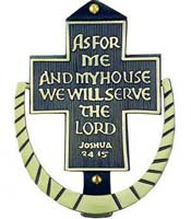 As For Me We Will Serve the Lord Door Knocker