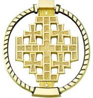 Jerusalem Cross Bronze Door Knocker
