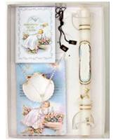 Baptism Gift Set, Candle, Missal, Rosary, Scapular, Seashell