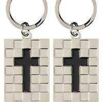 Christian Cross Keychain