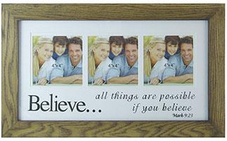 Believe Photo Frame -  Wood