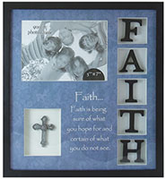 Faith Wood Plaque Photo Frame