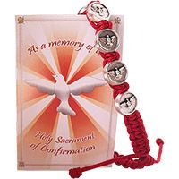 Red Confirmation Slipknot Bracelet