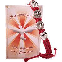 Red Confirmation Slipknot Bracelet