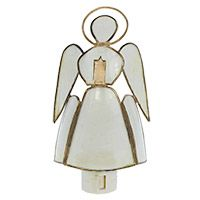 Guardian Angel Night Light Holding Candle