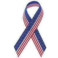 American Flag Awareness Ribbons (Pkg of 12)